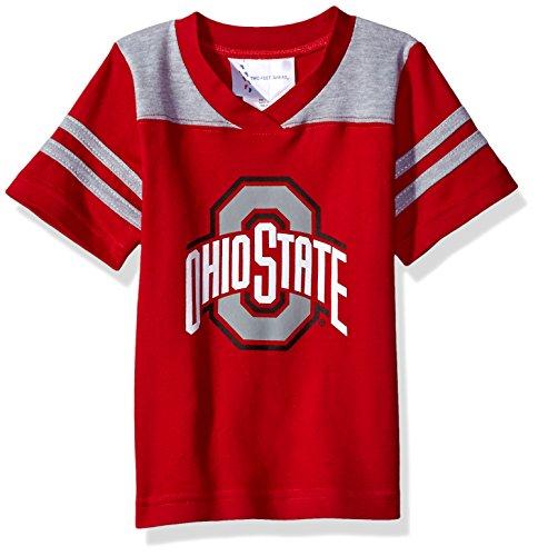 NCAA Ohio State Buckeyes Toddler Boys Football Shirt, Red, 2