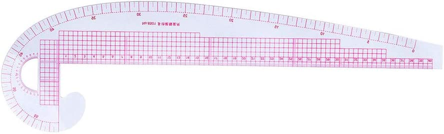 Fanct 10Pcs Tailor Ruler Set French Curve Ruler Yardstick Measure Dressmaking Cutting Sewing Tools