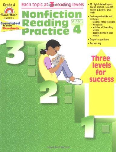 Nonfiction Reading Practice, Grade 4: Evan Moor: 0023472033154 ...