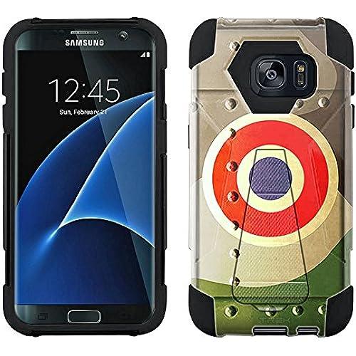 Samsung Galaxy S7 Edge Hybrid Case French Air Force War Plane Fuselage 2 Piece Style Silicone Case Cover with Stand for Samsung Galaxy S7 Edge Sales