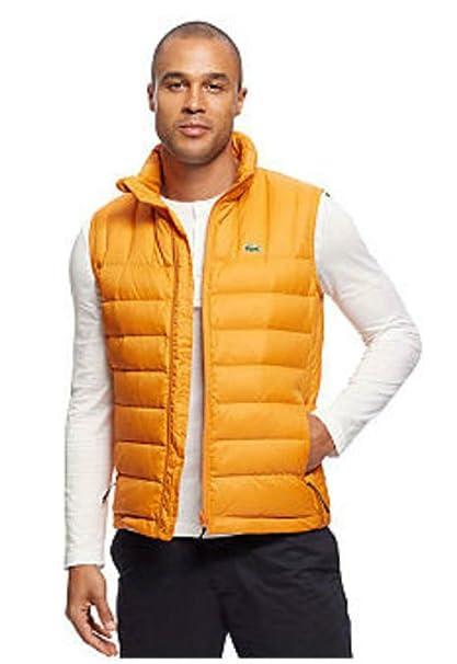 54d7b2b95 Lacoste Men s Packable Down Vest Large Orange  Navy Blue  Amazon.ca   Clothing   Accessories