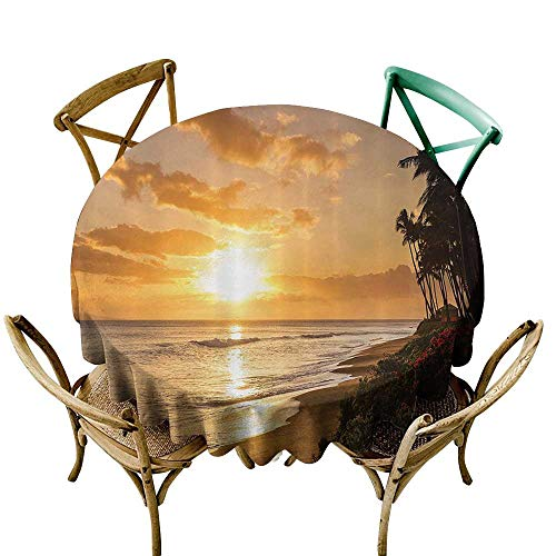 Jbgzzm Restaurant Tablecloth Hawaiian Decorations Warm Tropical Sunset On Sands of Kaanapali Beach in Maui Hawaii Destination for Travel Picnic D55