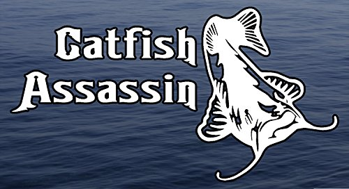 Catfish Assassin Fresh Water Background Full Color window decal sticker