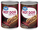 Great Value Hot Dog Chili Sauce, 10.5 Oz (Pack of 2)