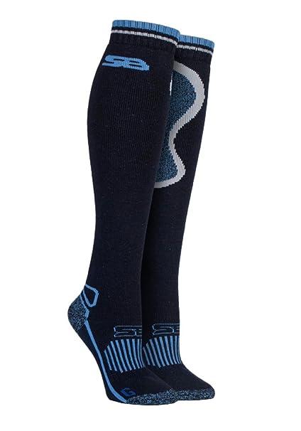 Storm Bloc - Mujer equitación trekking botas de agua altos hasta la rodilla lana merino calcetines
