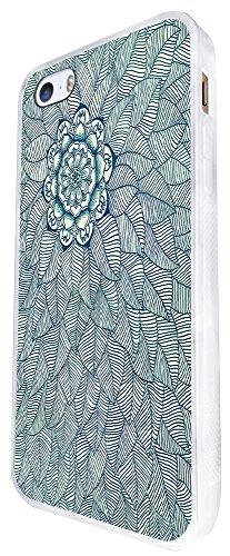 095 - Vintage Aztec Leafs Love And Art Design iphone SE - 2016 Coque Fashion Trend Case Coque Protection Cover plastique et métal - Blanc