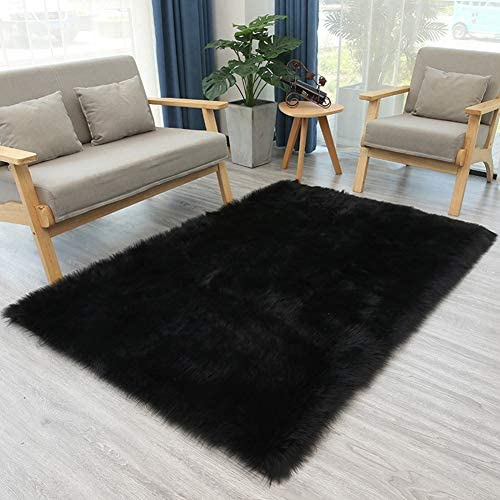 Faux Sheepskin Fur Rugs Solid Color Area Rugs Luxury Fluffy Shaggy