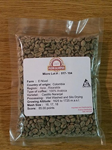 Colombian Green Unroasted Coffee Beans 3- Pounds Single Origin Farm El Nivel