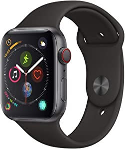 Apple Watch Series 4 (GPS + Cellular, 40MM) - Space Black Aluminum Case with Black Sport Band (Renewed)