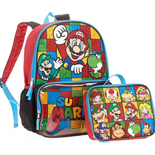 Global Design Concepts Super Mario Backpack with Clear Po...