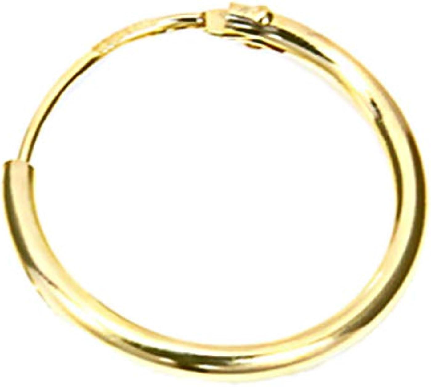 NKlaus 585/en or v/éritable unique hommes classique bijoux boucles doreilles cr/éoles/-/Boucles doreilles pendantes