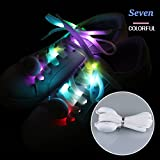 101Bsboy LED Shoelaces, Nylon Light Up Shoe Laces with 3 Modes for Night Safety Running Biking, Or Cool Disco Party, Cosplay, Hip-hop Dance (7 Colors)