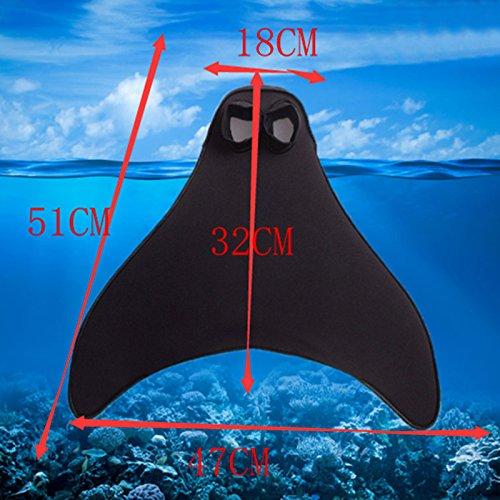 Aleta para natación en forma de cola de sirena (1 pieza), para niños y adultos, guay juguete acuático, For Kids