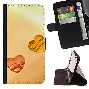 BullDog Case - FOR/Sony Xperia Z2 D6502 / - / Love Amber Love /- Monedero de cuero de la PU Llevar cubierta de la caja con el ID Credit Card Slots Flip funda de cuer
