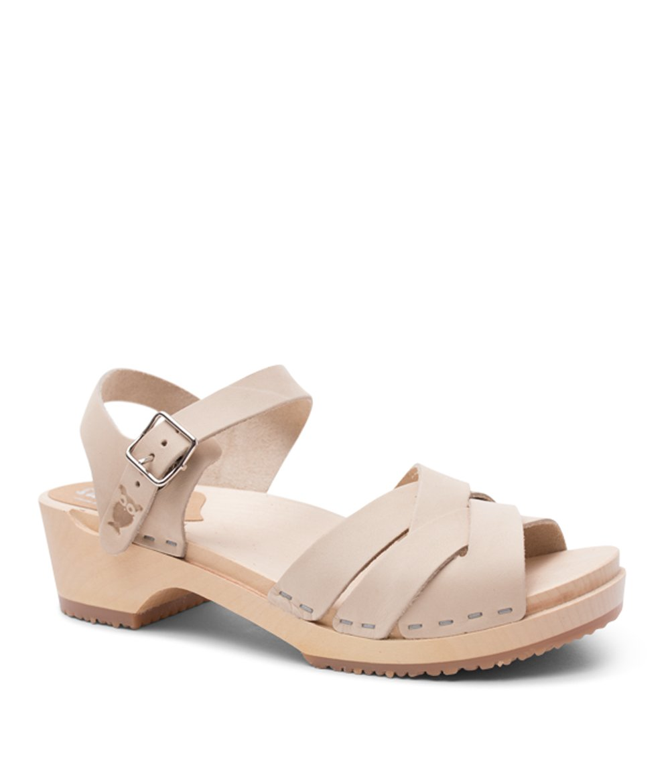 13946ad7148 Sandgrens Swedish Wooden Low Heel Clog Sandals for Women