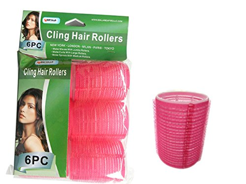 HAIR ROLLER CLING 6PC/SET 44MM ASST , Case of 144 by DollarItemDirect