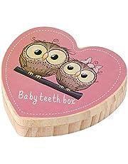 Baby Teeth Box, Baby Teeth Storage Keeper Keepsake Box Case, Baby Teeth Holder Organizer Save Box, Wooden Children Kid Teeth Collection Box for Girl to Keep Child-wood Memory