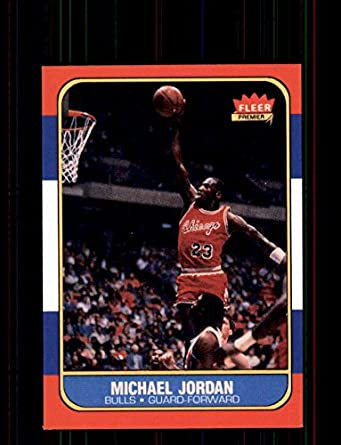 32995b1225b 1986-87 Fleer  57 Michael Jordan Chicago Bulls Rookie REPRINT Card Special!  Nice Gift Ships in New Card Holder at Amazon s Sports Collectibles Store