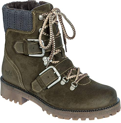 - Women's Bos & Co Corral Waterproof Suede Boots Olive/Grey