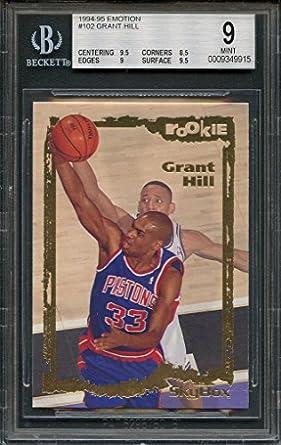 Amazoncom 1994 95 Emotion 102 Grant Hill Detroit Pistons