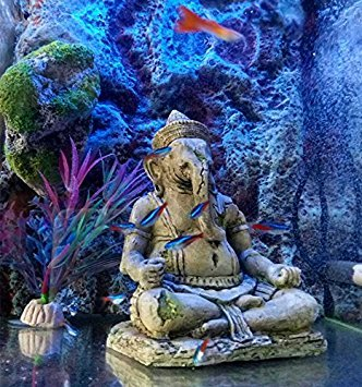 Amazon.com : OMEM Fish Tank Decorations Ganesh Buddha Statue Aquarium Ornaments : Pet Supplies