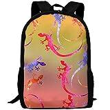 Malsjk8 Ink Lizard Cool.jpg Business Work Rucksack Daypack For School Outdoor Camping