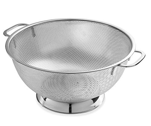 Stainless Steel Large Colander - Bellemain Micro-perforated Stainless Steel 5-quart Colander-Dishwasher Safe