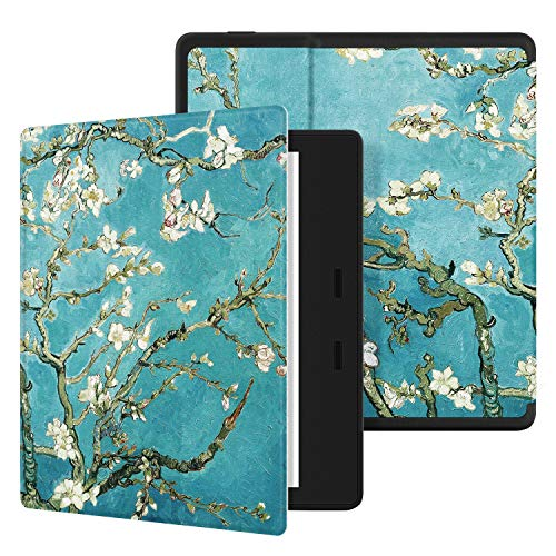 Ayotu Colorful Case for All-New Kindle Oasis (10th Gen, 2019 Release & 9th Gen, 2017 Release) PU Leather Smart Waterproof Cover,Auto Wake/Sleep,ONLY Fits All-New 7