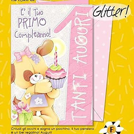 Tarjeta Felicitación cumpleaños 1 año niña un perro para il ...