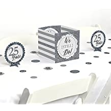 We Still Do - 25th Wedding Anniversary - Party Centerpiece & Table Decoration Kit