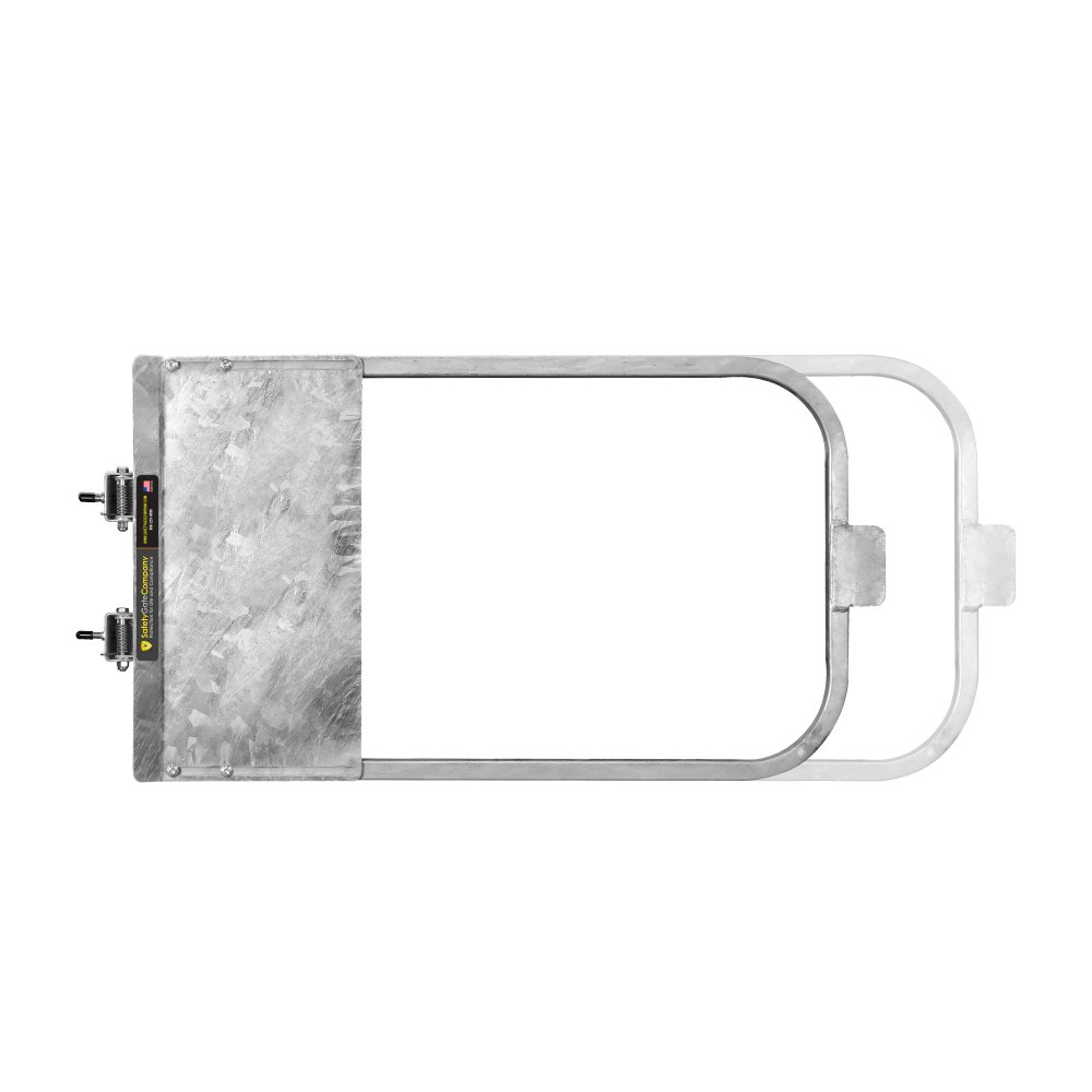 Safety Gate Company Self-Closing Gate For Flat Bar or Wall Mart 33-39'' • 100% USA Made • Galvanized