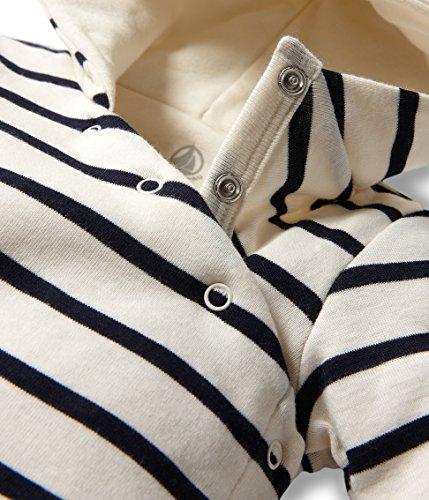 Petit Bateau Baby-Boys Newborn Hooded Striped Romper, Navy/White, 3 Months by Petit Bateau (Image #2)