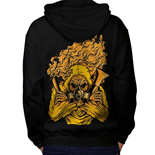 Insane Asylum Mask (Wellcoda Gass Poison Mask Horror Men M Hoodie Back)