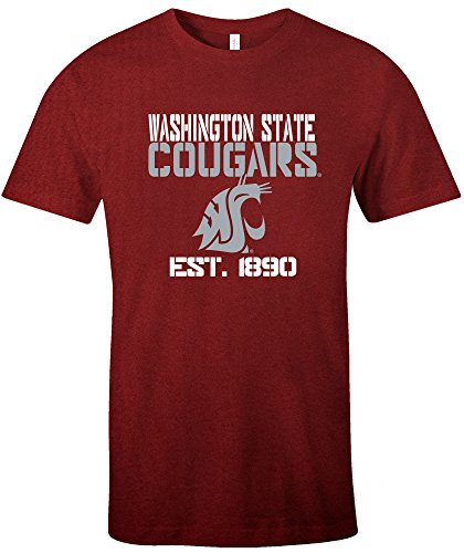 NCAA Washington State Cougars Est Stack Jersey Short Sleeve T-Shirt, Cardinal,X-Large (Jersey University Washington State)