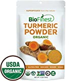 Biofinest Turmeric Curcumin Root Extract Powder - 100% Freeze-Dried Antioxidant Superfood - USDA Organic Kosher Vegan Raw Non-GMO- Digestion Weight Loss - Smoothie Beverage Blend (4 oz Resealable Bag)