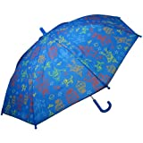 RainStoppers W104CHSPACE Boy's Space Print Umbrella with Ruffle, 34-Inch
