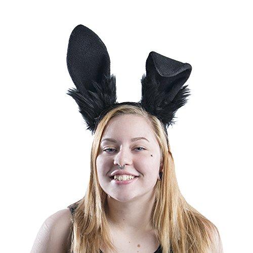 Pawstar Bunny Ear Headband Stand Up Poseable Rabbit Ears - All (All Black Bunny Costumes)