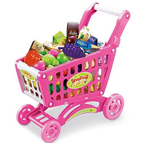 MEIDUO Juguetes de simulación infantil supermercado Carros de la compra Para jugar Juguetes Juguetes para bebés carretillas...