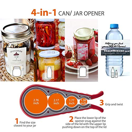 KAGDIDA Bottle Can and Jar Grip Opener 3 Pack, 5-in-1 and 6-in-1 Multi Kitchen Tools Set and 4-in-1Jar Grip Opener, Lid Seal Remover Lid Twist Off for Children, Weak Hand and Seniors with Arthritis