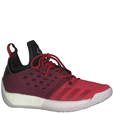 580ff2ca8552 adidas Men s Harden Vol 2 Basketball Shoe Red White Size 8 ...