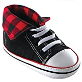 Luvable Friends Fold-Down Hi-Top Sneakers (Infant), Red, 0-6 Months M US Infant