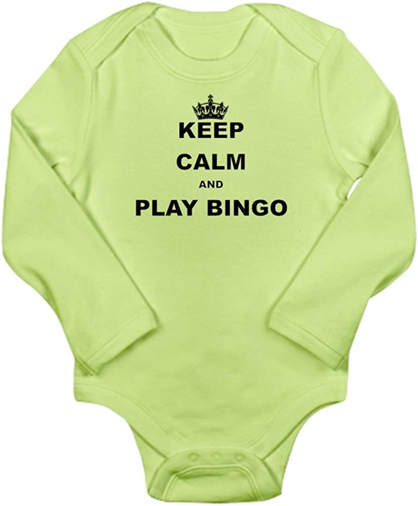 CafePress Keep Calm and Play Bingo Body Suit Cute Long Sleeve Infant Bodysuit Baby Romper