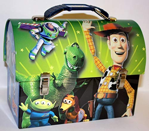Collectable Toy Story Green Woody Tin Dome Lunch Box Workmans Carry All -