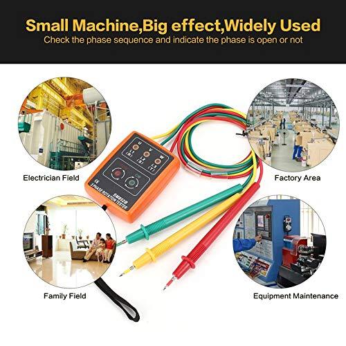 KEKJORY SM852B 3 Phase Rotation Sequence Indicator Meter Tester Detector 60V-600V