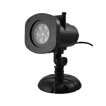 JINGHU Proyector de luz LED, 12 grupos de patrones exquisitos para ...