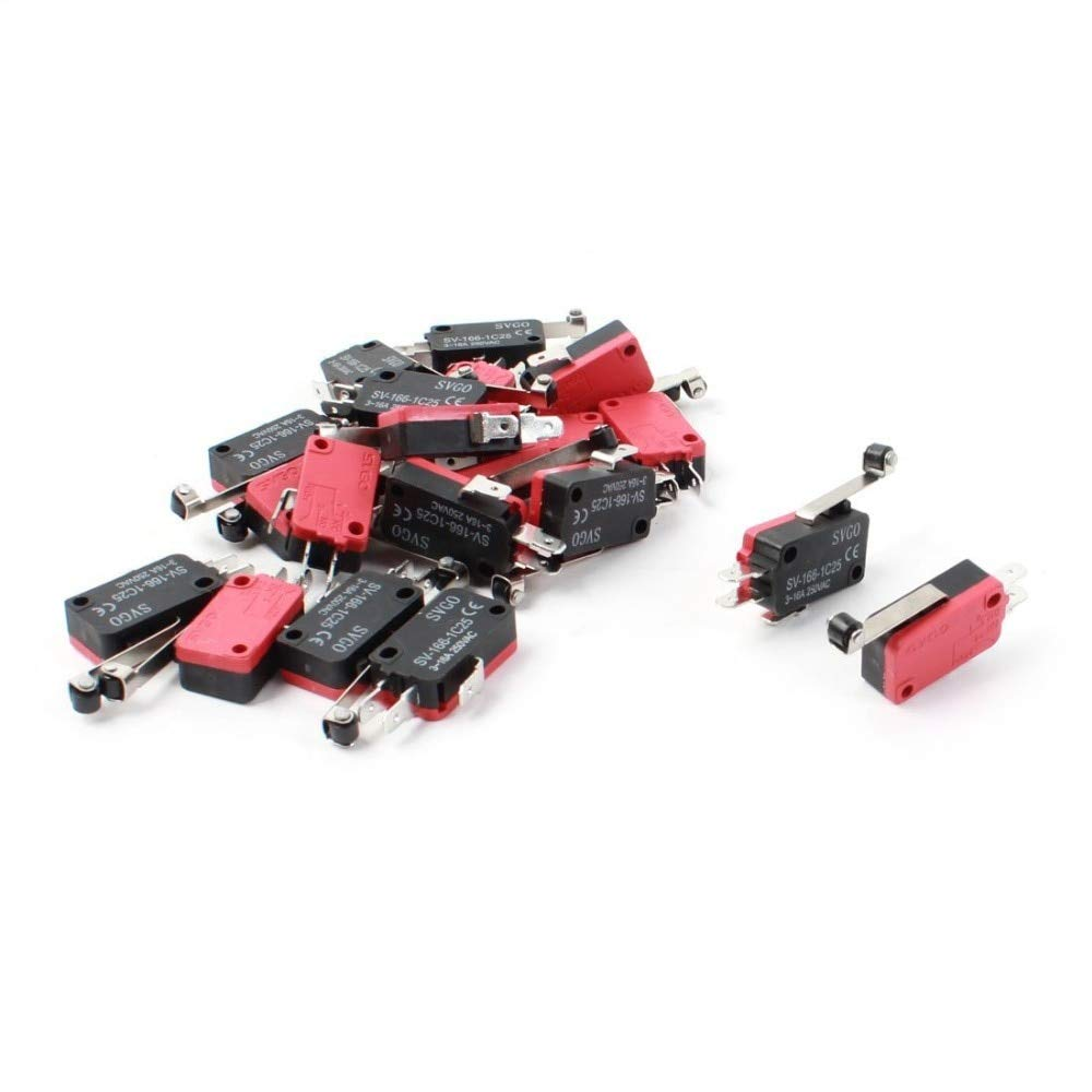 SV-166-1C25 20pcs x Micro Limit Switch Long Hinge Roller Arm SPDT Snap Action LOT New