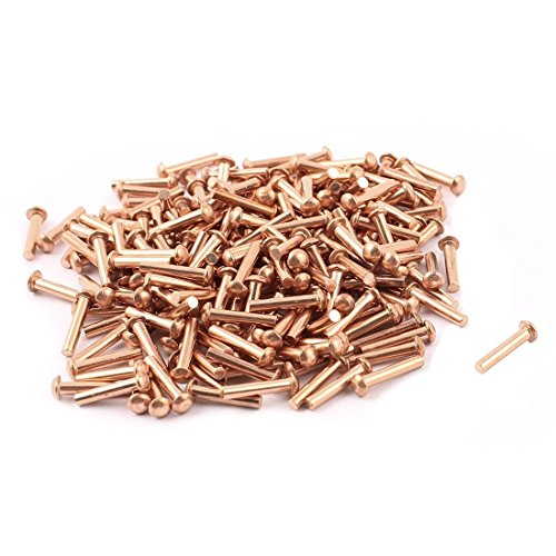 TOOGOO(R) 100 Pcs 5/64inch x 25/64inch Round Head Copper Solid Rivets Fasteners by TOOGOO(R) (Image #3)