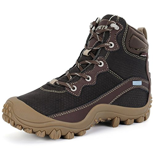 (XPETI Women's Dimo Mid Waterproof Hiking Trail Outdoor Boot Coffee 7 Hill Cute Walking Fashion Mountains Mountaineering Shoes)