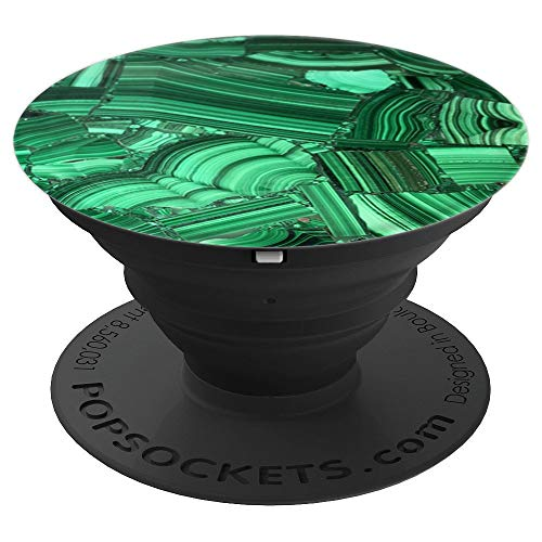 Green malachite - PopSockets Grip and Stand for Phones and Tablets