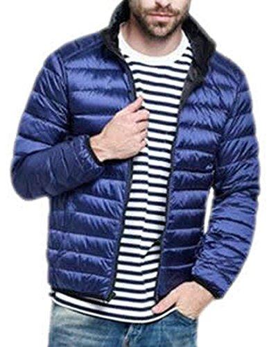EKU Mens Double Sided Fashion Down Jacket Coats XL navy blue